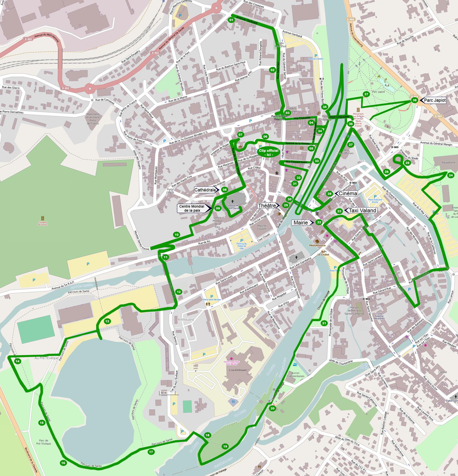 Carte Ville De Verdun